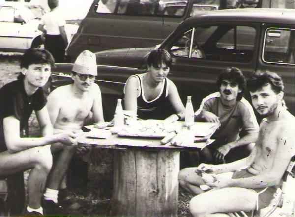 zľava: Gejza, Ďoďo, Dodo, Ľubo, Peter